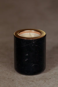 BLACK MARBLE + CANDLE INSERT