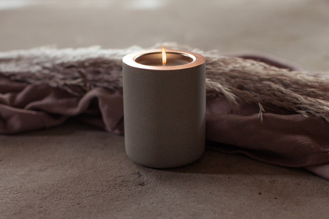 GREY SANDSTONE + CANDLE INSERT