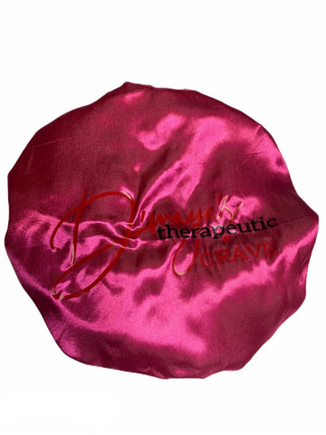 Pink/ Black Satin Bonnet - DH LLC- Dmayahair