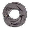 SUIT | Patterned Black | Elegant Loop Scarf for Men - GAZUR STUDIO
