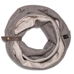 SUIT | Nut Brown | Winter Infinity Scarf for Women - GAZUR STUDIO