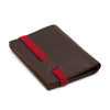 THE WALLET - in brown / red band
