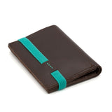 THE WALLET - in brown / turquoise band - GAZUR STUDIO