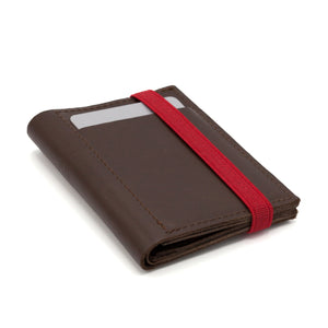 THE WALLET - in brown / red band - Wallets - GAZUR STUDIO