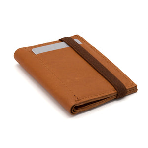 THE WALLET - in camel / brown band
