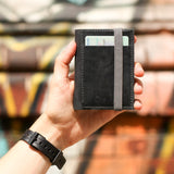 THE WALLET - in black /gray band - GAZUR STUDIO