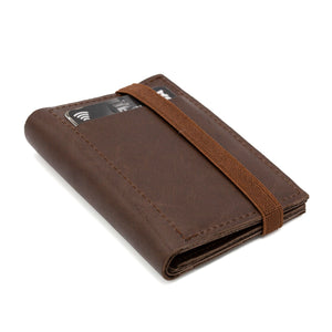 THE WALLET - brown leather wallet / brown band - GAZUR STUDIO