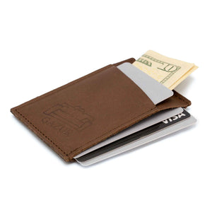 Super slim minimalist Brown Cards Holder