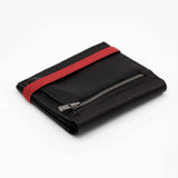 THE ZIPPER - in black / red band - Wallets - GAZUR STUDIO