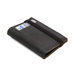 THE WALLET - in vintage black / black band - GAZUR STUDIO