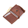 THE WALLET - in vintage look textured brown / brown band - GAZUR STUDIO