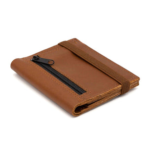 THE ZIPPER - in camel / brown band - Wallets - GAZUR STUDIO