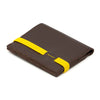 THE ZIPPER - in brown / yellow band - GAZUR STUDIO