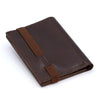 THE WALLET vr.II - in brown / brown band - GAZUR STUDIO