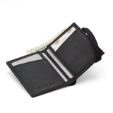 THE WALLET vr.II - in black / black band - GAZUR STUDIO