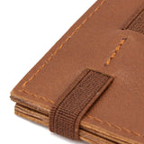 THE WALLET vr.II - in deep camel / brown band - GAZUR STUDIO