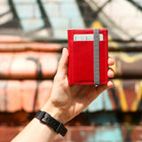 THE WALLET - in red / gray band - GAZUR STUDIO