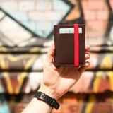 THE WALLET vr.II - in brown / red band - GAZUR STUDIO