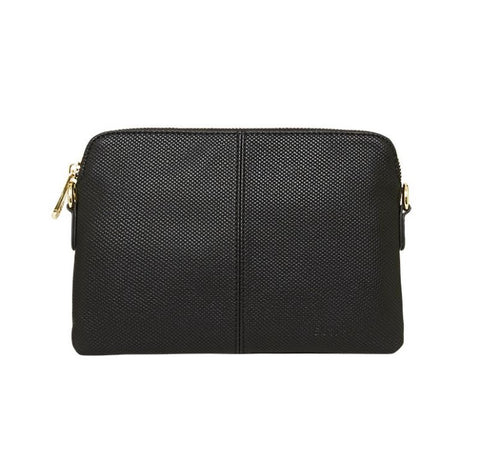 Bowery Wallet - Black Embossed (Weave)