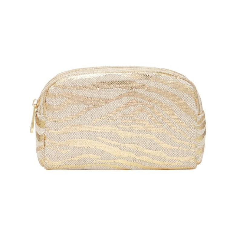 EK Small Cosmetics Bag - Gold Zebra