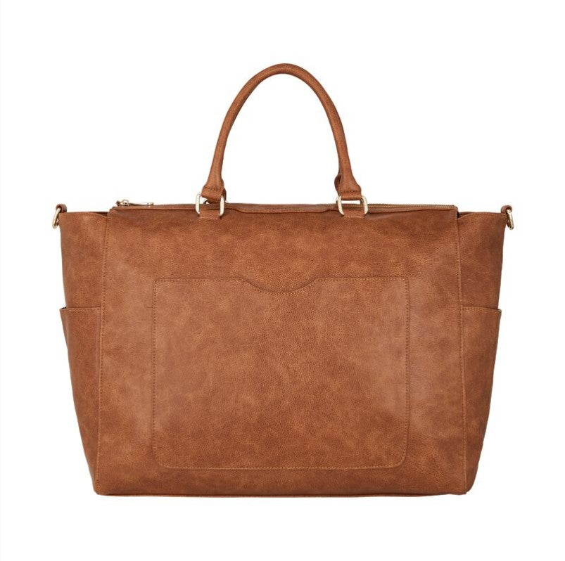 Ferrara Overnight Bag - Tan Pebble
