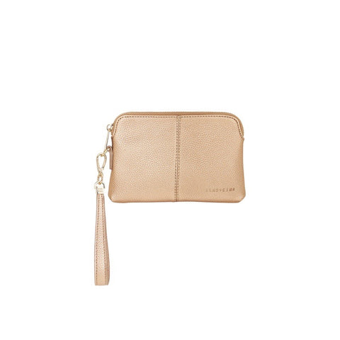 Bowery Coin Purse W/Wristlet - Copper