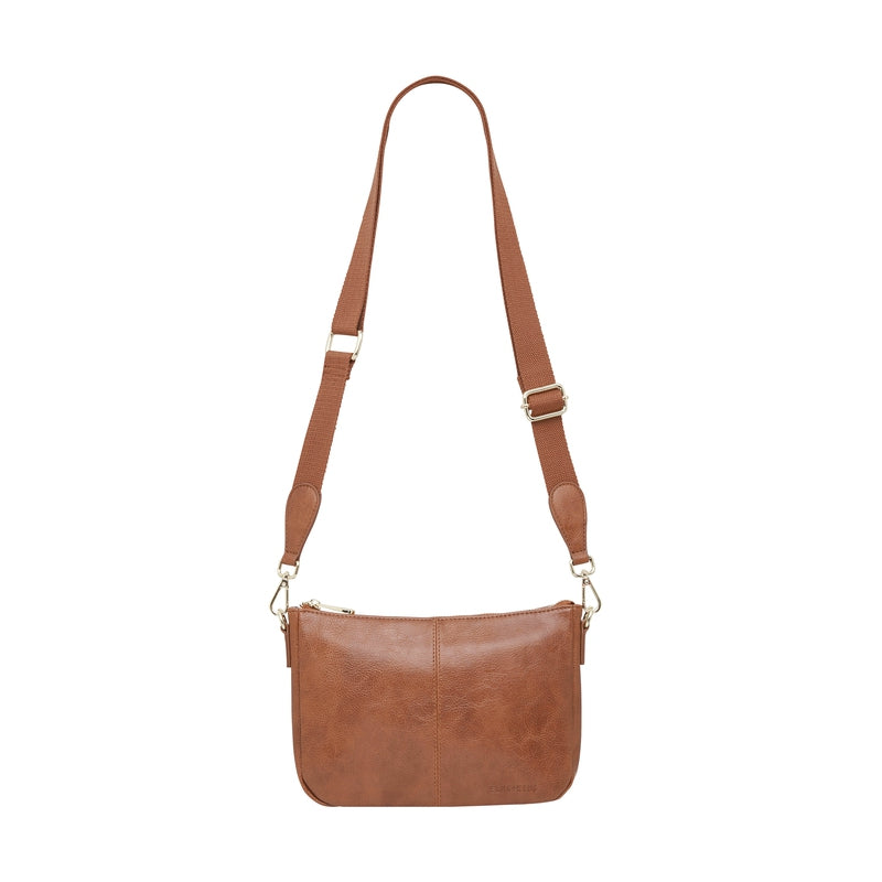 Small Bowery Shoulder Bag - Tan Pebble