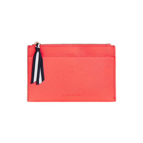 New York Coin Purse - Camellia Red