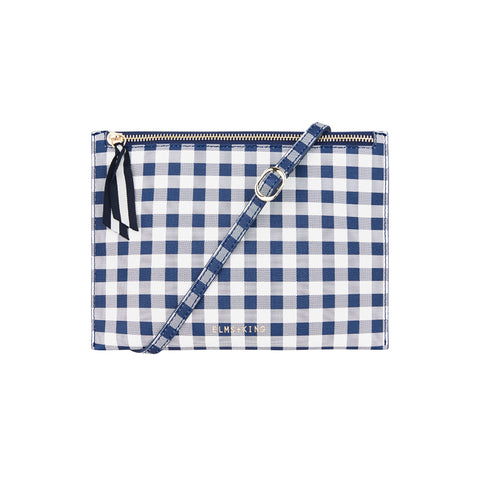 New York Messenger - Navy Gingham