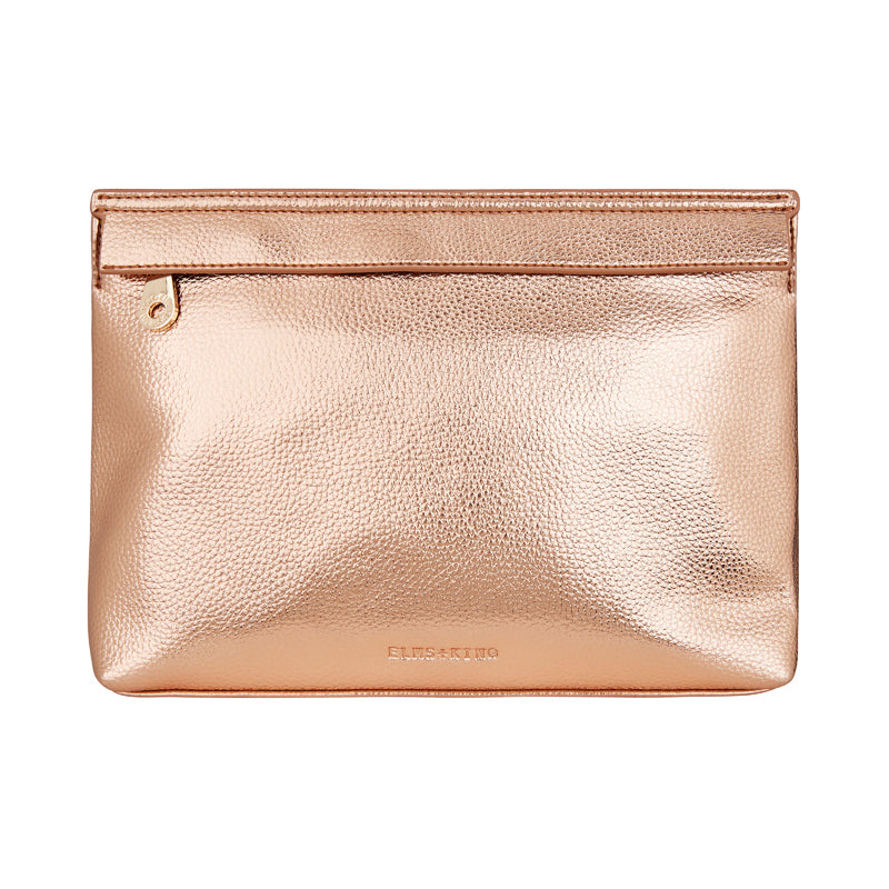 Amalfi Clutch  - Metallic Rose