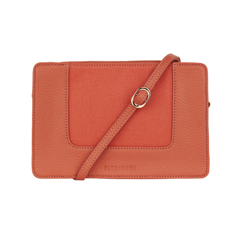 Liberty Crossbody - Nutmeg & Canvas