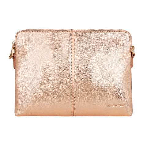 Bowery Clutch - Metallic Rose