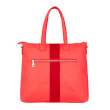 Lexington Zip Tote - Camellia Red