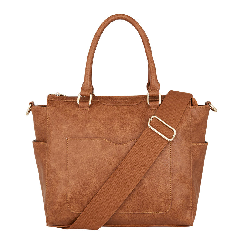 Ferrara Tote - Tan Pebble