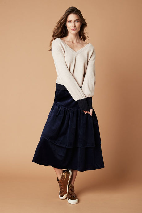 Sorrento Knit - Blush/Navy