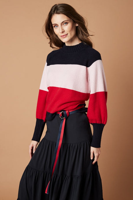 St Kilda Knit - Red Multicolour