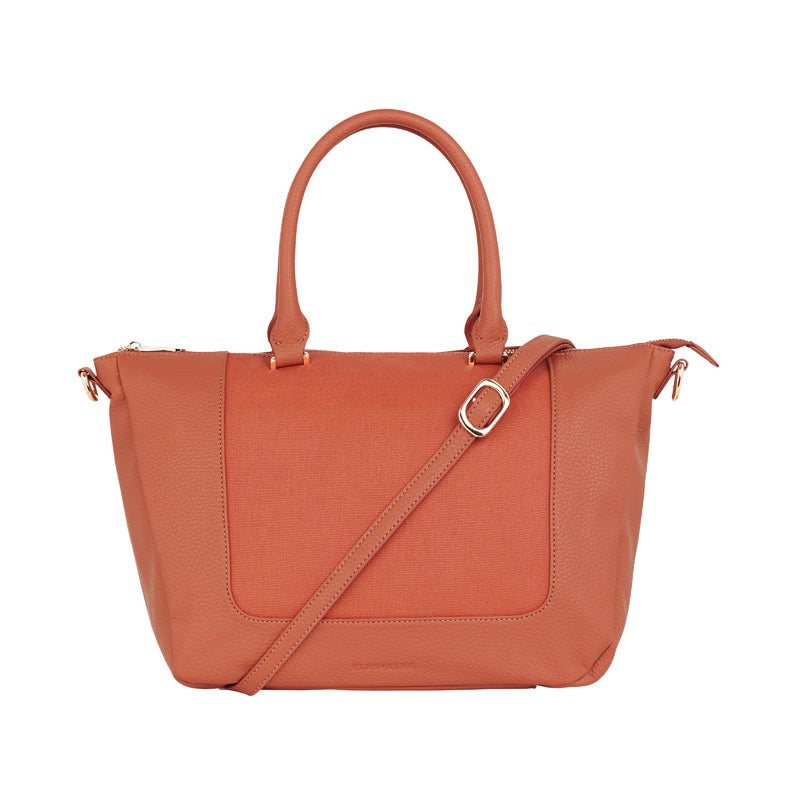 Liberty Handbag - Nutmeg & Canvas
