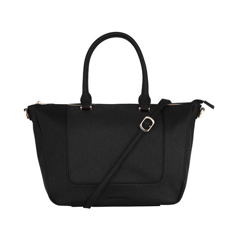 Liberty Handbag - Black & Canvas