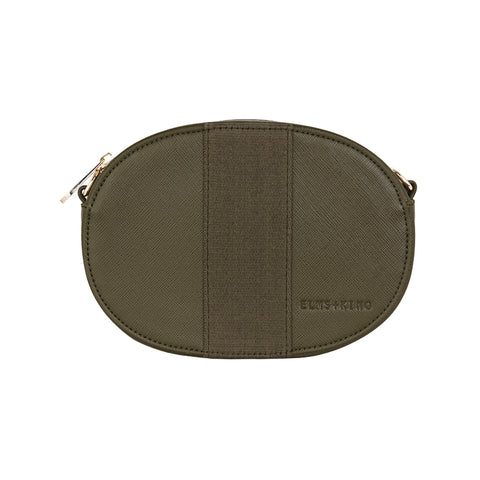 Lexington Crossbody - Khaki Saffiano
