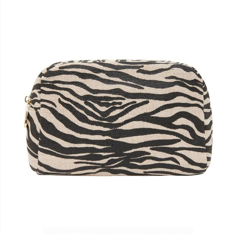 EK Large Cosmetics Bag - Black Zebra