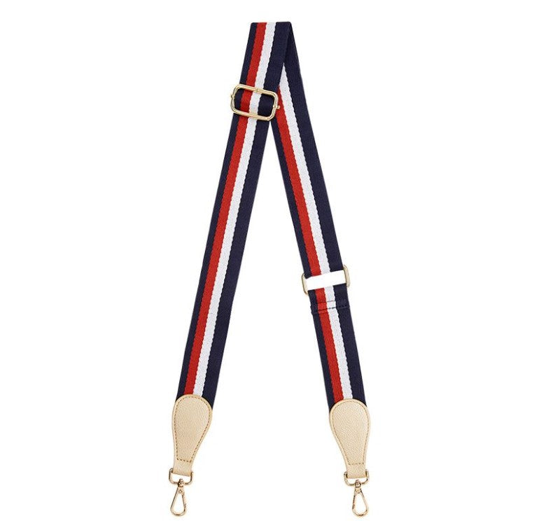 EK Accent Strap - Navy Tri Colour with light gold tab