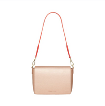 Ferrara Day Bag - Rose Gold (Camellia Red Strap)