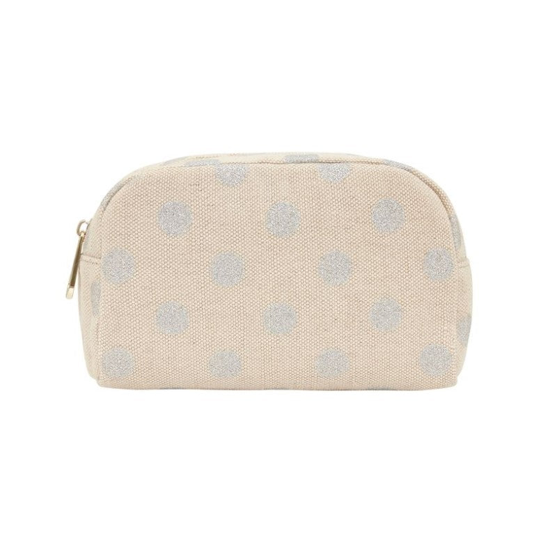 EK Small Cosmetics Bag - Silver Spot