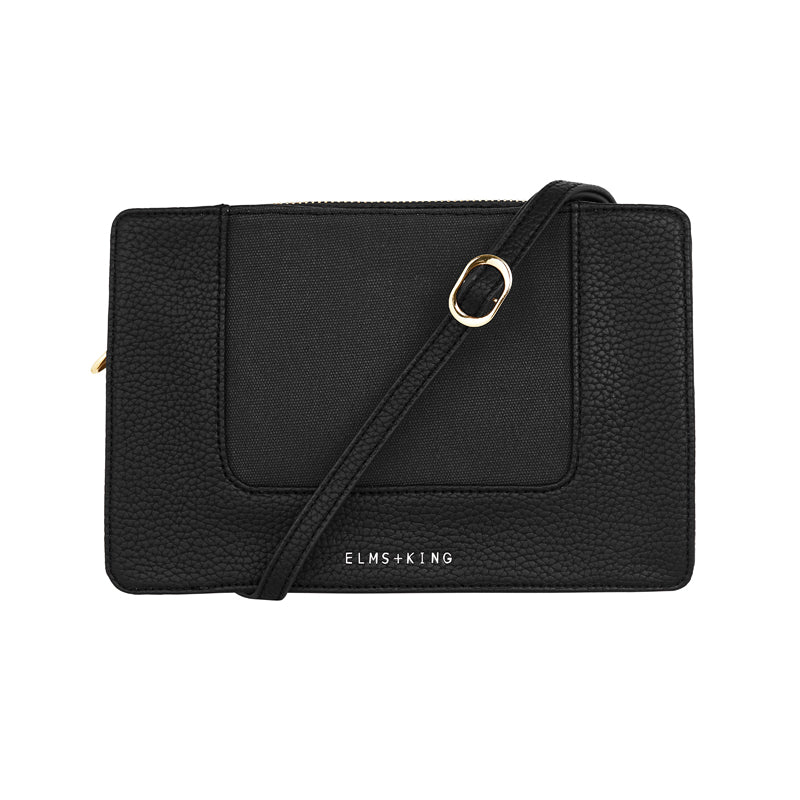 Liberty Crossbody - Black & Canvas