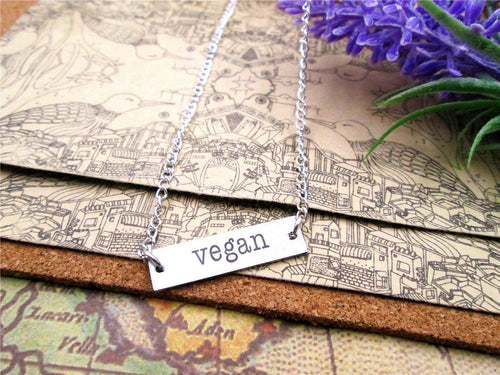 Vegan Plate Necklace
