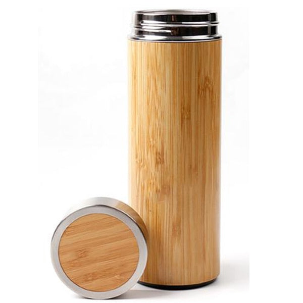 Bamboo Thermos Bottle