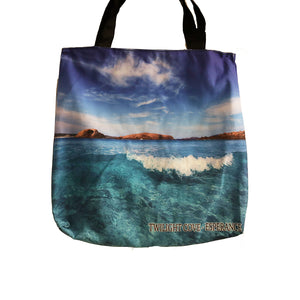 Tote Bag Twilight Cove Blue Waters