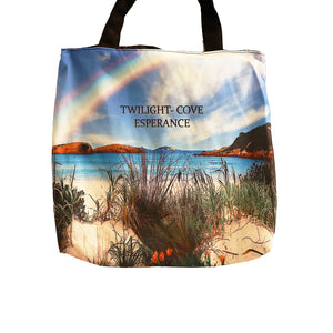 Twilight Cove Rainbow Tote Bag image