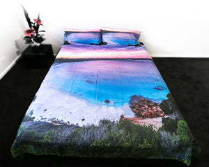 blue haven esperance sunset doona cover image