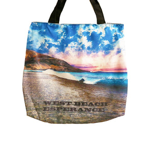 West beach wave tote bag image